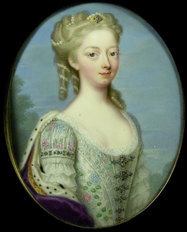 Afb. 5: Portret van Anna van Hannover, Chr. Fr. Zincke, 1730-1734. Rijksmuseum, Amsterdam.