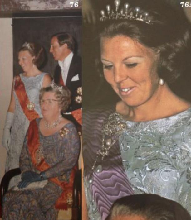 Detail foto's staatsbezoek prinses Beatrix.