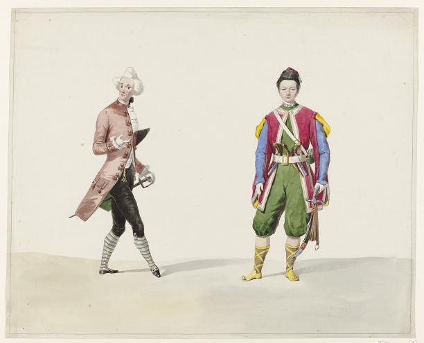 Afb. 8 Huib van Hove, twee mannen in historisch kostuum, 1841, collectie Rijksmuseum.