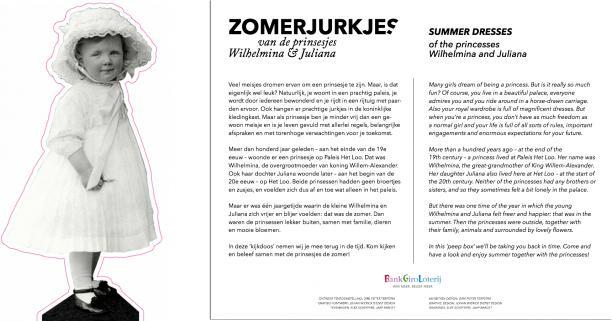 Afb. 9 en 10. Opzet voor de blow-up van prinses Juliana en Introductiebord opgemaakt door Johan Wiericx