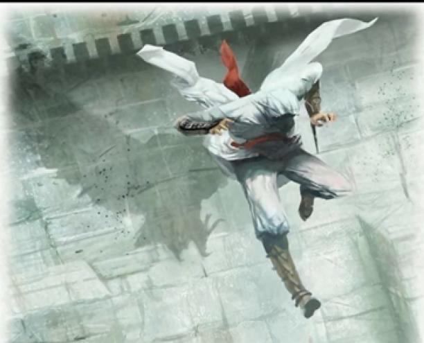 sprong van Altair, ook wel 'leap of faith'