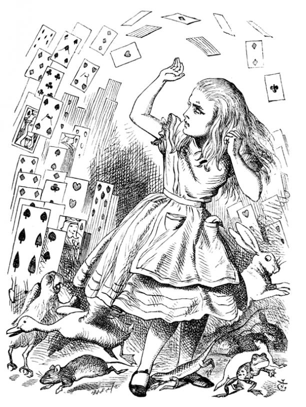 Alice en Speelkaarten