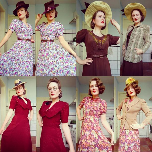 Blog Modemuze. Vintage en de stijl van vroeger. Afb. 4 Lente en zomer - strohoeden en bloemen
