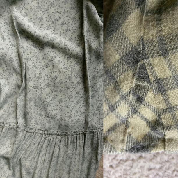 Blog Modemuze Birthe Weijkamp Hoe ga je om met vintage. Afb. 6 Door het toevoegen van figuurnaden op de rug is een jurk ingenomen, en door een spietje van overtollige stof bij een naad is een mouw uitgelegd