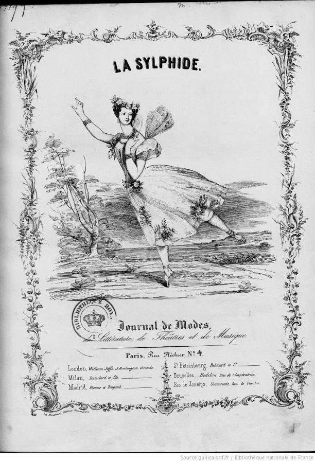 Blog Modemuze Fleur Dingen. Afb. 9. Eerste nummer van La Sylphide: journal de modes, de littérature, de théâtres et de musique, 25 november 1939, Bibliothèque nationale de France, Parijs. © BNF.