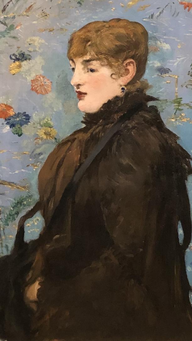 Modemuze. Nina Groeskamp, Americana, Los Angeles, The J. Paul Getty Museum, Edouard Manet, Modern Beauty, mode, kunst; Édouard Manet, Autumn, 1881 of 1882, Musée des Beaux-Arts Nancy, Fotograaf: Nina Groeskamp.