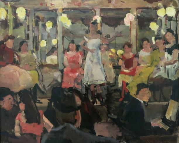 Isaac Israels, Café Chantant in de Nes te Amsterdam, ca. 1893, collectie Kröller Muller Museum.