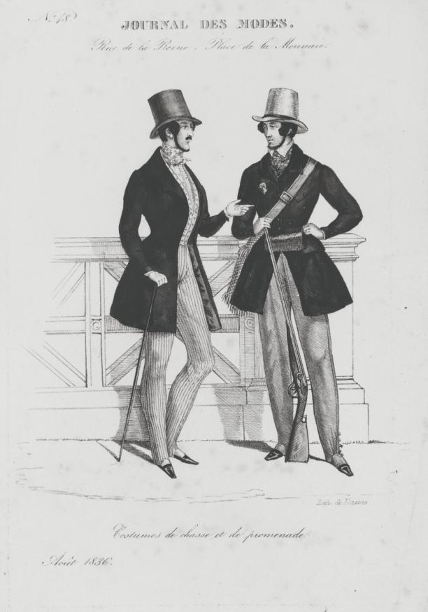 Modeprent uit Journal des Modes - collectie Centraal Museum