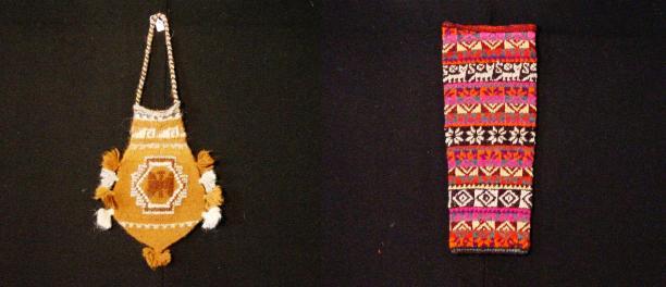 Gebreid wollen cocatasje (TM-4017-14), voor 1971, en losse, gebreide, wollen mouw (TM-4294-206), voor 1976, collectie Stichting Nationaal Museum van Wereldculturen.