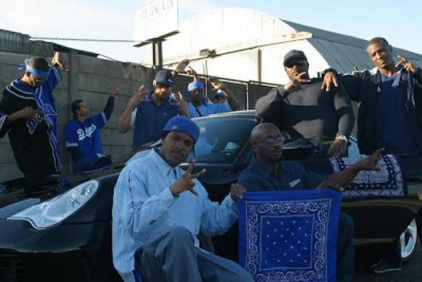 Afb. 9 Foto van de leden uit de 'Crips' in Los Angeles.