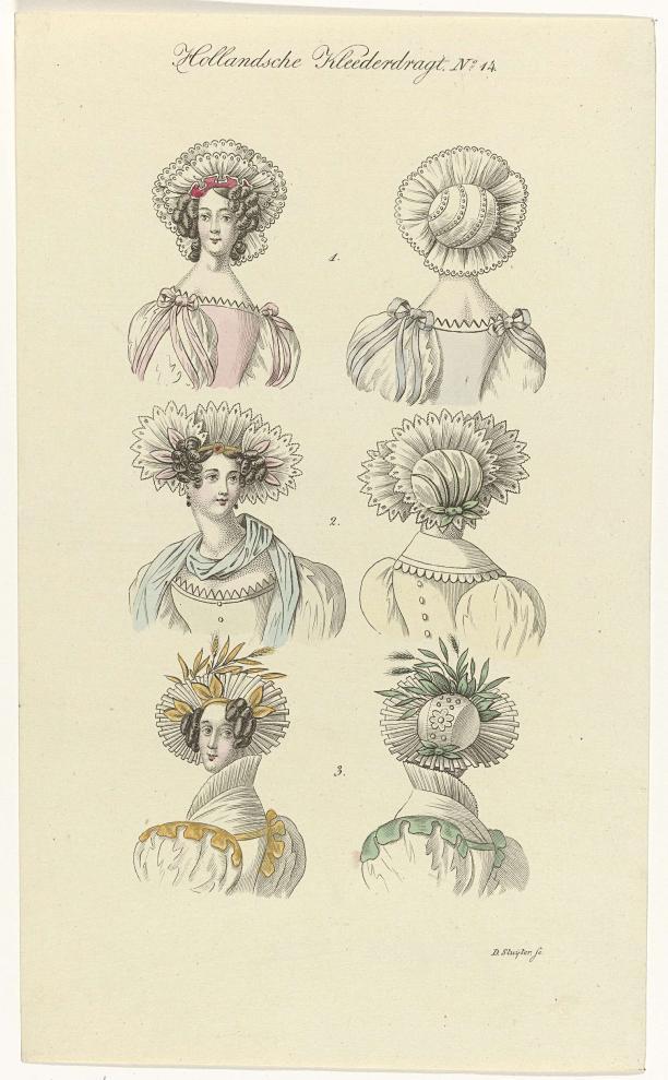 Euphrosyne, tijdschrift voor de Hollandsche Kleeding, Hollandsche Kleederdragt, No 14, Dirk Sluyter, 1832, collectie Rijksmuseum.
