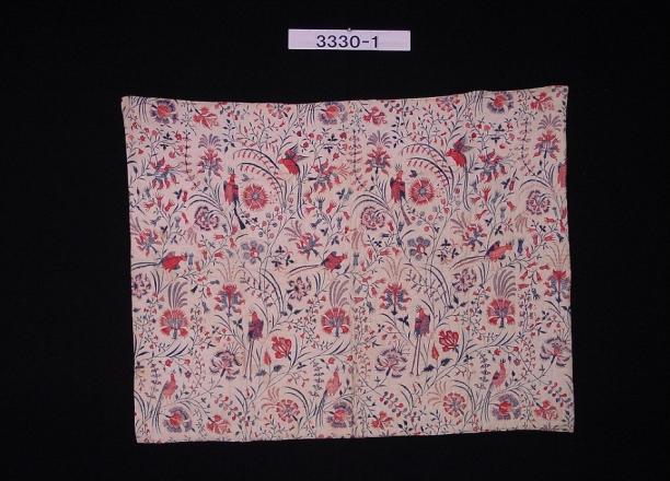 Sitsen deken, ca. 1840, India, collectie Stichting Nationaal Museum van Wereldculturen.