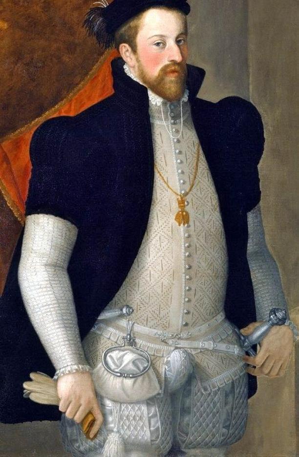 Portret van aartshertog Ferdinand II van Oostenrijk, Francesco Terzi, ca. 1557