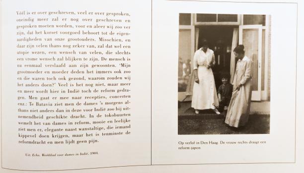 Afb 3 Foto van het artikel uit het weekblad 'Echo' over de Reformkleding in Nederlands-Indië. Bron: Wils & Bronkhorst, 'Tropen Echt'.