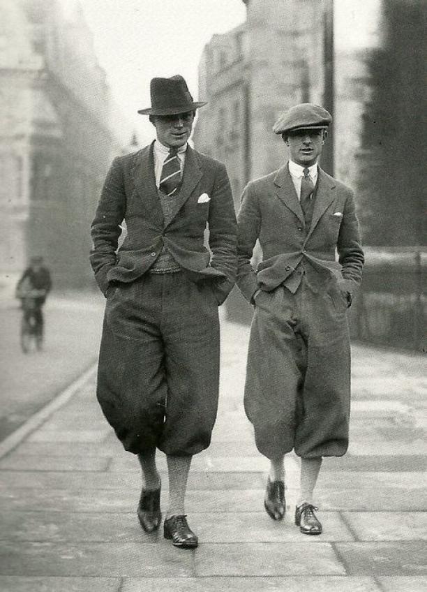 Mannen op straat in de jaren '20