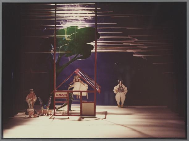 Maquette voor een opvoering van 'Alice in Wonderland' door Judith Lansink, Theatercollectie Bijzondere Collecties UvA.