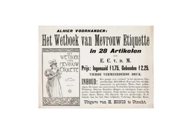 Poster van het Wetboek van Mevrouw Etiquette