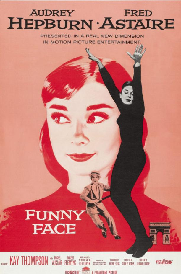 Filmposter Funny Face met in de hoofdrol Audrey Hepburn, 1957. Copyright: Hollandse Hoogte.