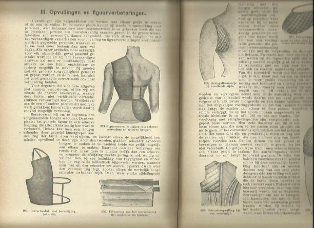 Pagina uit 'Ik kan kostuumnaaien', Henriëtte van Wessem, 1912.