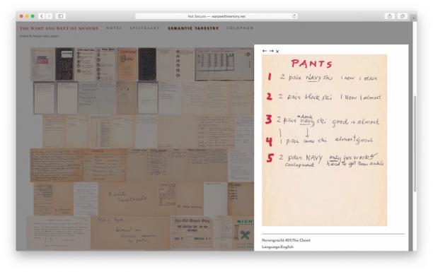 Inventaris van Gisèle, ©The Warp and Weft of Memory