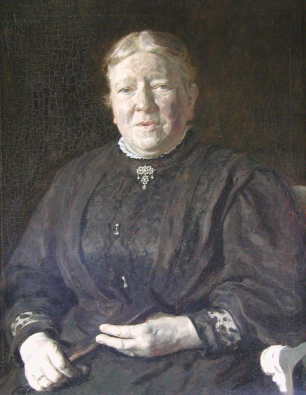 Afb. 1: Coen van Oven, portret van Johanna Houkjen Staring-Blussé, 1909, olieverf op doek, particuliere collectie