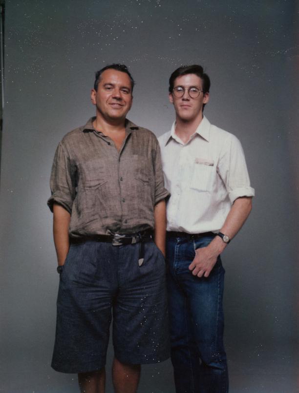 Koos van den Akker en Peter DeWilde, 1987. Bron: Modekern/Gelders Archief.