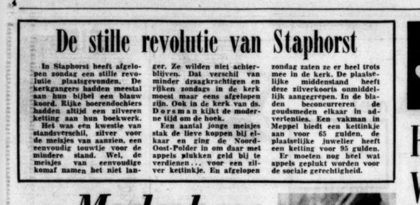 De Telegraaf, 27 oktober 1972. Bron: Delpher
