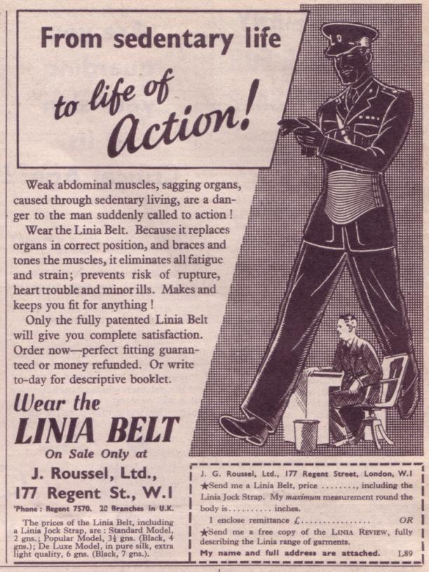 Advertentie voor de Linea Belt.