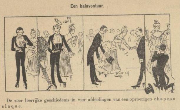 Detail uit de Haagsche Courant over de oproering die de Chapeau Claque kan veroorzaken, 2 mei 1887. Bron: Delpher.