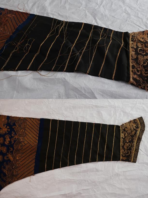 Blog Modemuze Sjoukje Telleman restauratie Chinese kimono met gouddraden extra behandeling