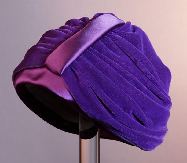 Ronde turban, ca. 1950/60, collectie Museum Rotterdam, objectnr.: 69676