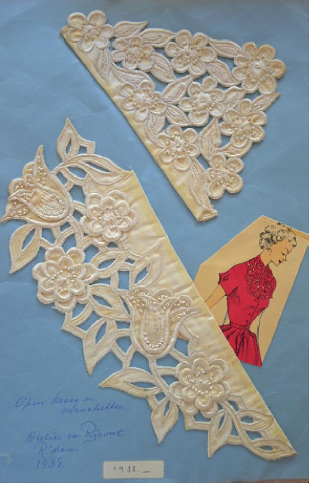 'Whitework' met aplicaties door Nellie van Rijsoort