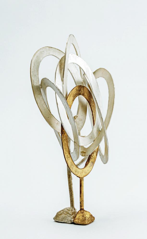 Silver, gold alloy Lost wax technique, simultaneously cast L 13.5 cm, W 11 cm, H 26 cm