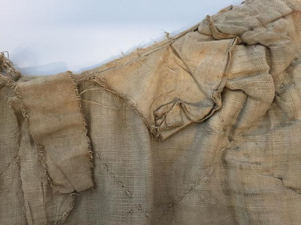 Detail panier: afwerking binnenkant bij afgeronde taille. (Foto gemaakt door Judith van Amelsvoort)