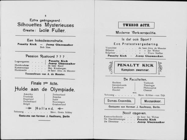 programmaboekje van jubileumrevue 1928