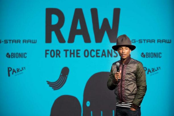 Pharell Williams voor G-Star Raw, 'Raw for the Oceans', 2016.
