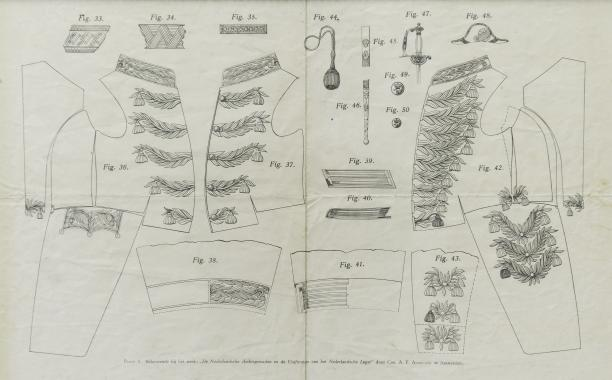 Plaat 5 uit Chr. A. F. Angröchte, Nederlandse Ambstgewaden en Uniformen van het Nederlandse Leger