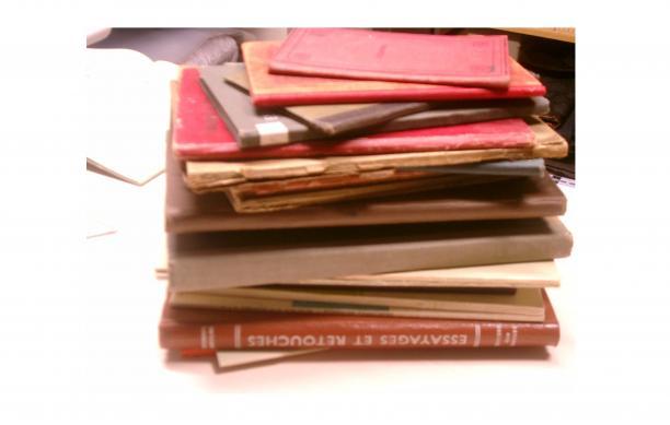 Pompboeken uit de collectie van Roy Verschuren.