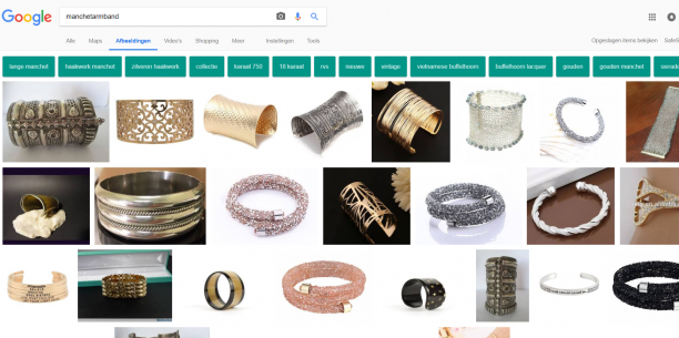 Blog Modemuze Sterre Snijders Slavenarmband. Resultaten op Google met de term 'manchetarmband', 1-2-2018