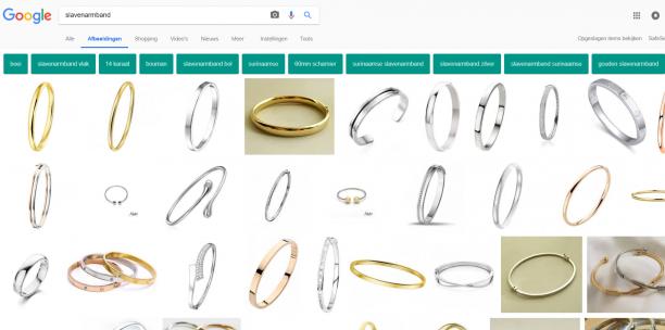 Blog Modemuze Sterre Snijders Slavenarmband, Resultaten op Google met de term 'slavenarmband', 1-2-2018