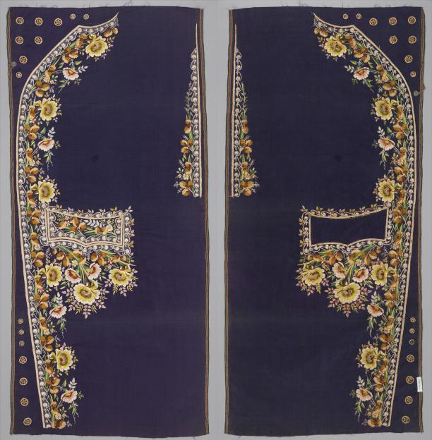Afb. 2 Geborduurde panelen voor een mannenpak, ca. 1780, collectie Metropolitan Museum of Art.