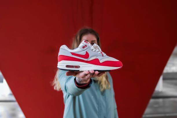 Nike Air Max 1, in productie sinds 1987 / uitvoering 2017. Foto: Gino Gold, via Sneakerness.