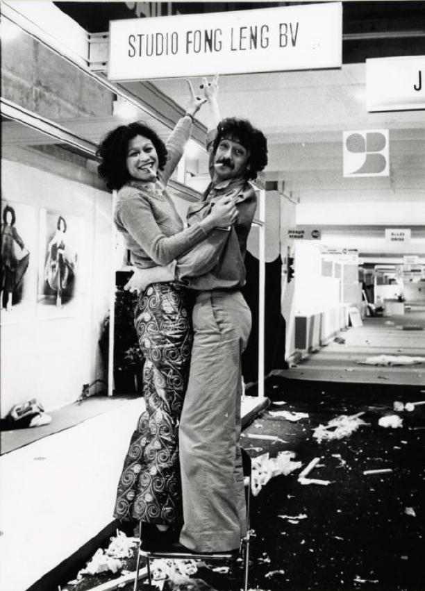 Fong Leng en Berry Brun in Studio Fong Leng. Foto: Amsterdam Museum.