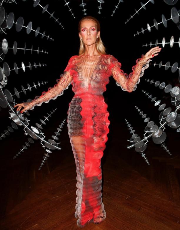 Céline Dion in Iris van Herpen, foto: © Instagram Iris van Herpen