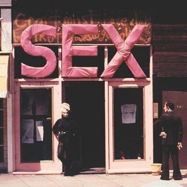 Winkel 'Sex' van Vivienne Westwood en Malcolm McLaren, 1974