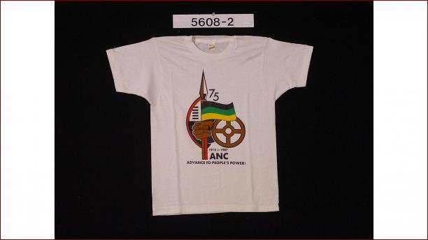 T-shirt van het ANC, African National Congress, 1987, ANC, stichting Nationaal Museum van Wereldculturen