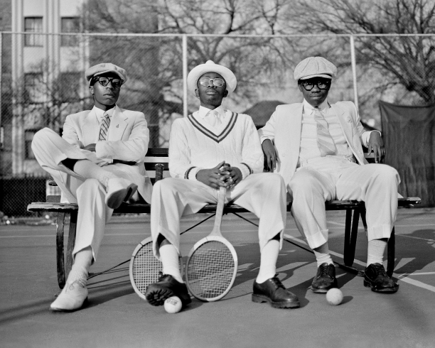Tennis looks, The Sartists, Sports Series collectie, 2015. Foto: Andile Buka.