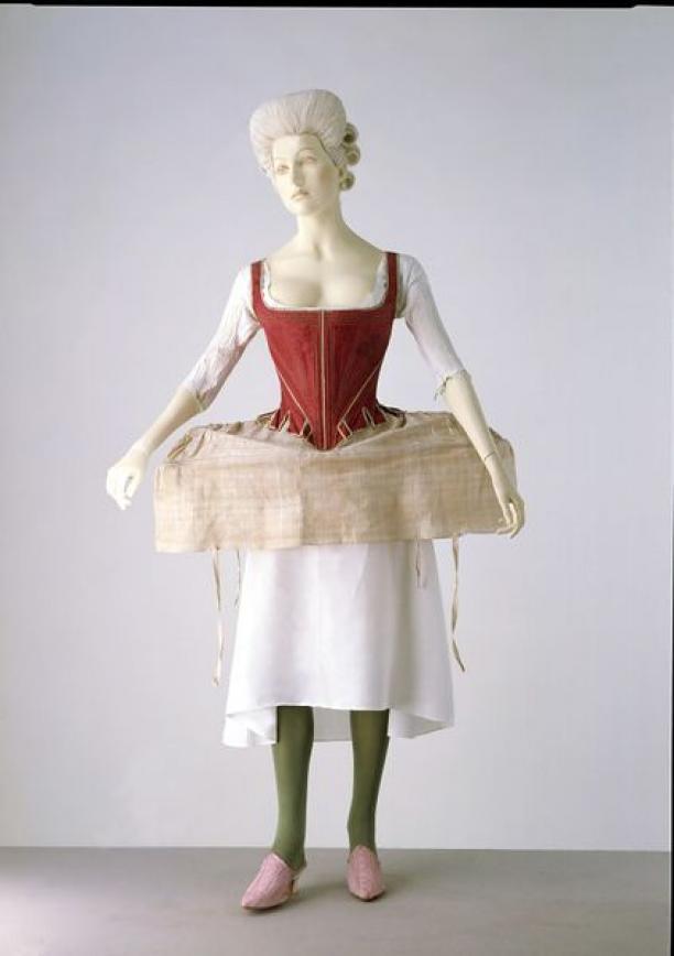 Panier (Side Hoop) uit de collectie van V&A, gemaakt in 1778 in Engeland (objectnummer: T.120-1969).