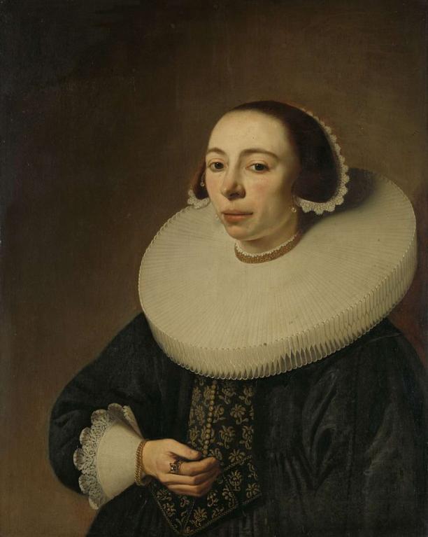 Pieter Dubordieu (1608-1678), Portret van een vrouw, 1638. Collectie Rijksmuseum (SK-A-2183).